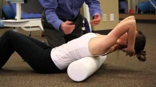 Foam Roll Mid-Back Extension Stretch