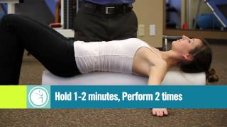 Foam Roll Pectoralis (Chest) Stretch