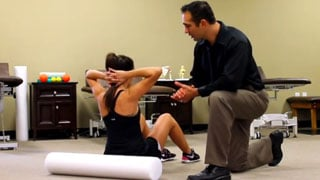 Foam Roll Thoracic Extension Video