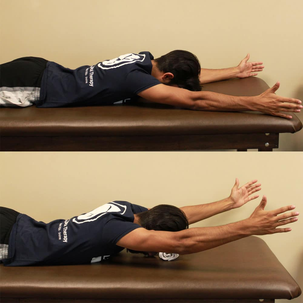 Prone Y Exercise