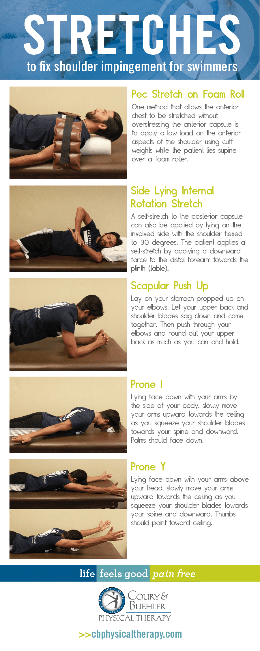 Stretches for Shoulder Impingement - Swimmers