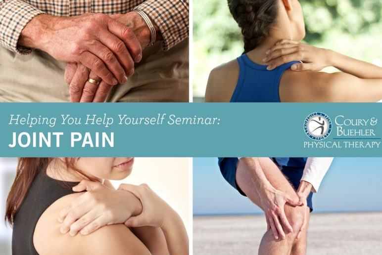 Join us for a Helping You Help Yourself Seminar: JOINT PAIN!