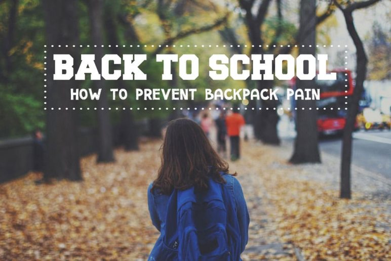 Back to School: How To Prevent Backpack Pain